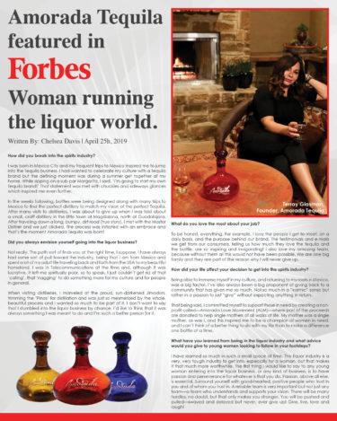 Amorada Tequila Forbes Magazine